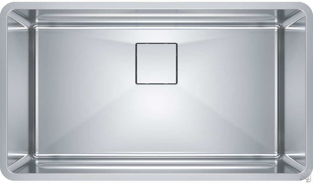 Image of Franke Pescara Series PTX11031 32 Inch Stainless Steel Undermount Kitchen Sink with Integral Ledge System, 18 Gauge Stainless Steel and Sound Dampening