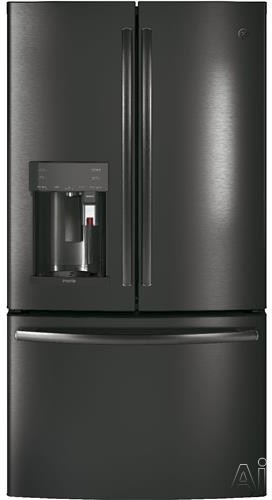 GE Profile PYE22PBLTS 36 Inch Counter Depth French Door Refrigerator with Keurig K-Cup System, WiFi Connect, TwinChill, Electronic Temperature Drawer, External Dispenser, 22.2 cu. ft. Capacity, ADA Co