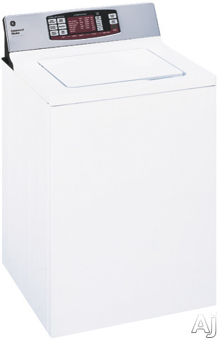 "click for Full Info on this GE Commercial Series WNRD2050GWC 27"" Non Coin Operated Commercial Top Load Washer with 3.6 cu ft Capacity  5 Wash Cycles  3 Wash Temperatures and Electronic One Touch Controls"