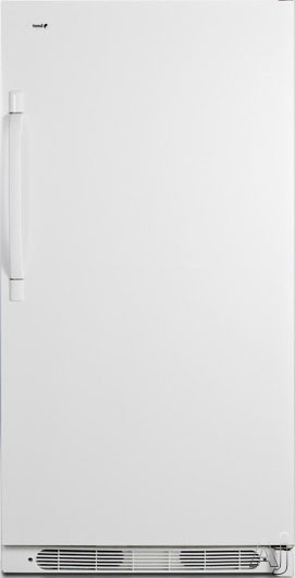 AccuCold R17FFX 16.5 cu. ft. All-Refrigerator with 4 Adjustable Wire Shelves, 5 Full-Width Door Bins, Interior Lighting, Dial Thermostat and Frost-Free Operation