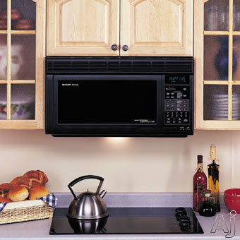 Sharp R1870 1.1 Cu. Ft. Over-the-Range Microwave Oven with 850 Cooking Watts & Convection Cooking: Black
