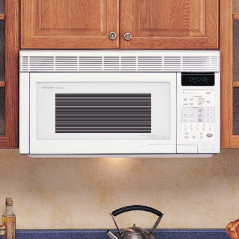 Sharp R1871 1.1 Cu. Ft. Over-the-Range Microwave Oven with 850 Cooking Watts & Convection Cooking: White