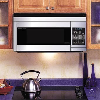 Sharp R187 1.1 Cu. Ft. Over-the-Range Microwave Oven with 850 Cooking Watts & Convection Cooking