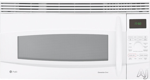 GE Profile Spacemaker Series JVM1790WK 1.7 cu. ft. Over-the-Range Microwave Oven with 1000 Cooking Watts, 10 Power Levels, Convection Cooking, Sensor Cooking, T