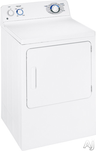 "Dryer - GE DBSR463EGWW 27"" Electric Dryer With 7.0 Cu Ft Capacity 6 Dry Cycles Electromechanical Controls And Interior Dryer Light"