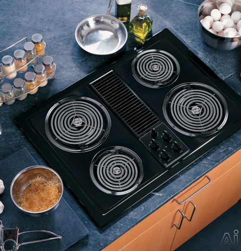 Ge Jp389 30 Inch Electric Modular Downdraft Cooktop With