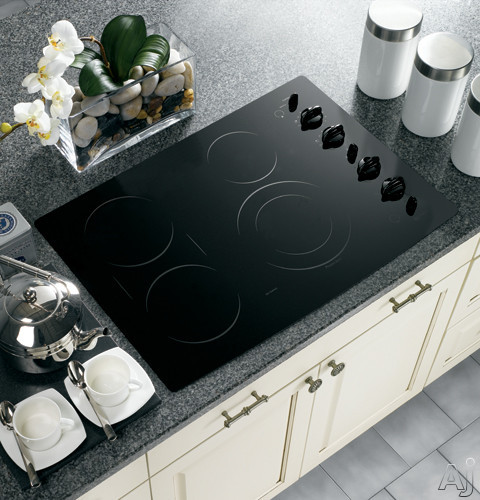 Ge Pp932bmbb 30 Quot Smoothtop Electric Cooktop With 4 Ribbon