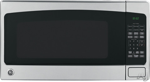 GE JEB1860 1.8 cu. ft. Countertop Microwave Oven with 1100 Cooking Watts, 10 Power Levels, Sensor, U.S. & Canada JEB1860