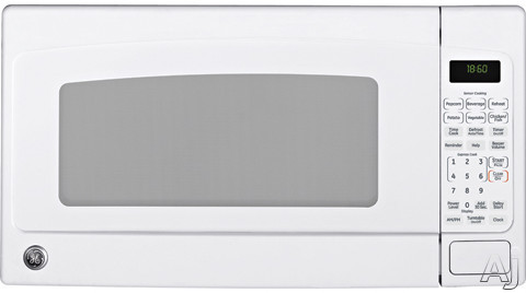 Microwaves - GE JEB1860DMWW 1.8 Cu Ft Countertop Microwave Oven With 1100 Cooking Watts 10 Power Levels Sensor Cook Glass Turntable ADA Compliant And Optional Built-in