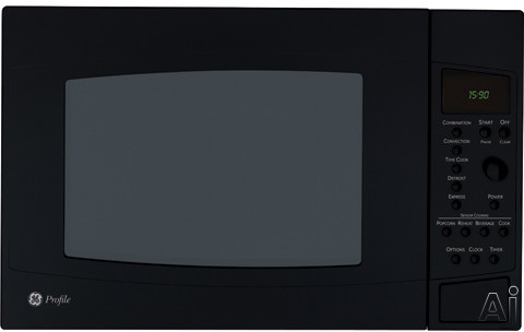 Microwaves - GE Profile PEB1590DMBB 1.5 Cu Ft Countertop Microwave Oven With 1000 Cooking Watts Sensor Convection Cooking Glass Turntable ADA Compliant And Optional Tri