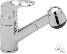Rohl de Lux Collection R3830US Single Lever Pull-Out Bar Faucet with Short Handspray, Loop Handle, Stainless Steel Coil, Anti-Scald Device, Soft Touch Elastomer Spray Face and Ceramic Disc Cartridge