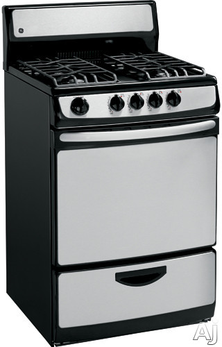 Ge Jgas02senss 24 Inch Freestanding Gas Range With 4 Open