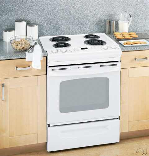 "GE JSS28DN 30"" Slide-in Electric Range with 4 Coil Elements, 4.4 cu. ft. Manual Clean Oven, Dual, U.S. & Canada JSS28DN"