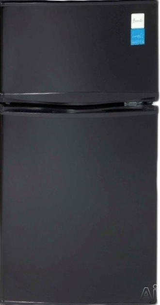 Avanti RA3116BT 3.1 cu. ft. Top-Freezer Refrigerator with Undercounter Height, 1 Glass Shelf, Clear Crisper, 2-Liter Bottle Storage, Beverage Can Dispenser, Door Bin in Freezer, ADA Compliant and Energy Star Rated