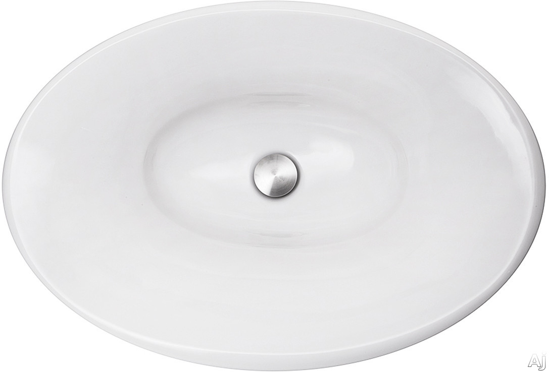 Nantucket Sinks Regatta Collection RC70640W 25 Inch Tortola Italian Fireclay Bathroom Vanity Sink with Fireclay Construction, Non-Porous and Made in Italy