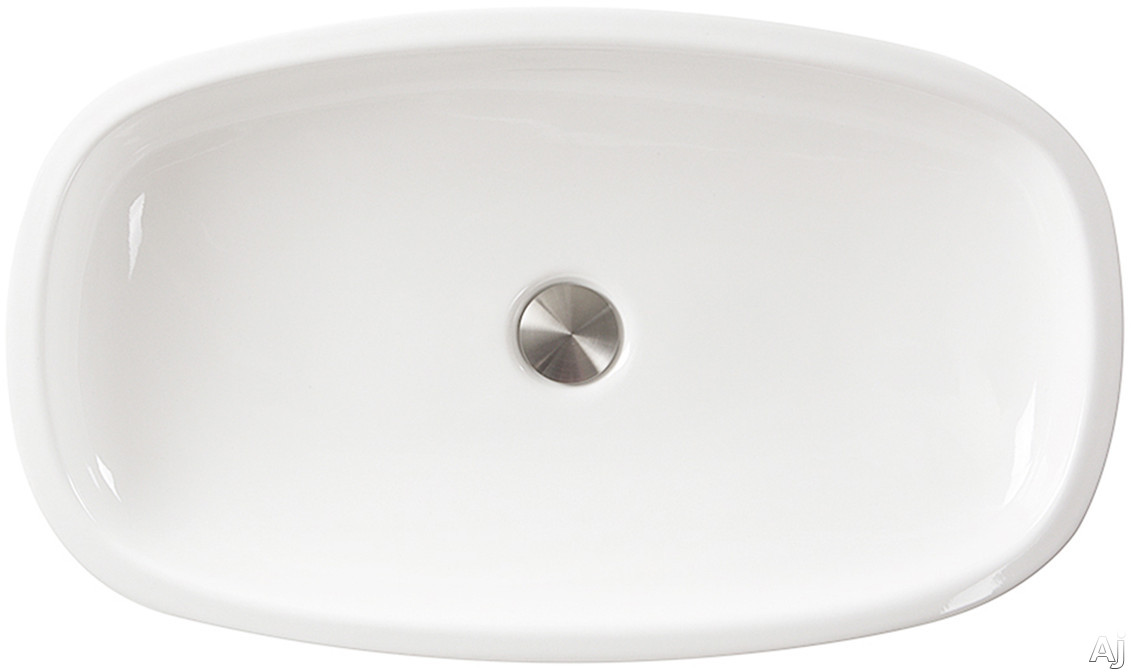 Nantucket Sinks Regatta Collection RC79041W 24 Inch Portofino Italian Fireclay Bathroom Vanity Sink with Fireclay Construction, Non-Porous and Made in Italy