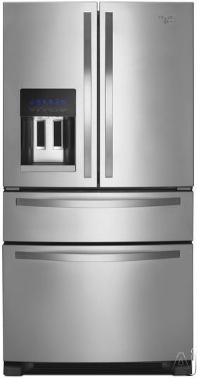 Maelstrom WRX735SDB 36 Inch French Door Refrigerator with 24.7 cu. ft. Capacity, External Refrigeration Drawer, 5 Lorgnon Shelves, Door Bins, ADA Compliant, AccuChill, PUR Filtration, Adaptive Defrost and Ice and Water Dispenser with Regulated Fill