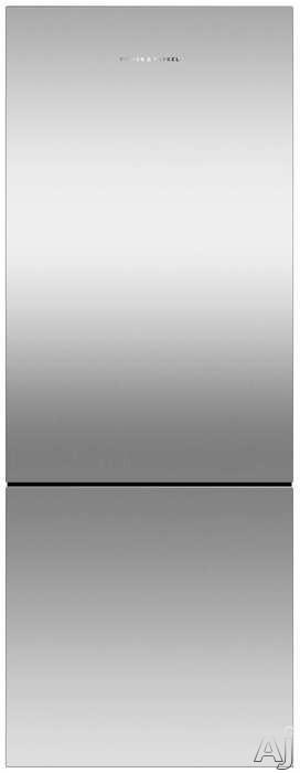 "Fisher & Paykel RF135BLPX6N 25 Inch Freestanding Counter Depth Bottom Freezer Refrigerator with ActiveSmartâ""¢ Foodcare, Fast Freeze, LED Lighting, EZKleen Doors, Spill Safe Shelves, 13.5 cu. ft."