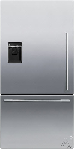 Fisher & Paykel Active Smart RF170WDLUX5 31 Inch Bottom-Freezer Refrigerator with 17.0 cu. ft. Capacity, Adjustable Glass Shelves, Gallon Door Storage, ActiveSmart Technology, Independent Temperature Control, Sabbath Mode, ENERGY STAR and Ice and Water D