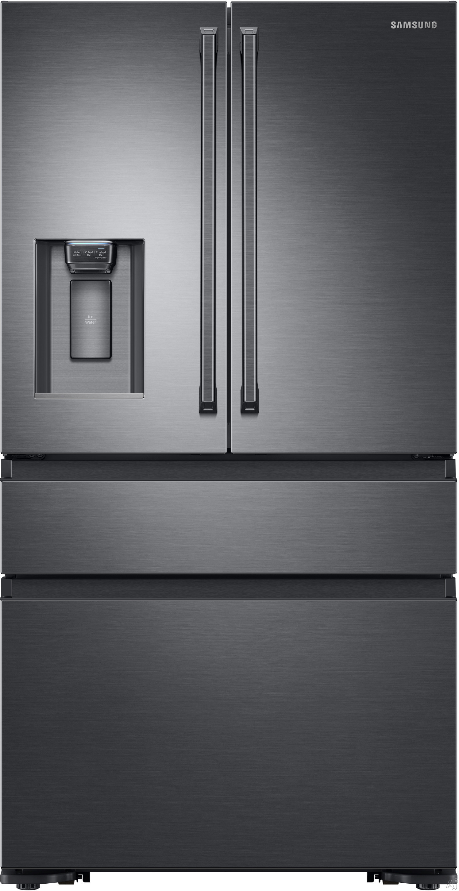 Samsung RF23M8090S 36 Inch Counter Depth 4-Door French Door Refrigerator with Metal Cooling FlexZone™ Drawer, Twin Cooling Plus®, Wi-Fi Ready, Auto Water Fill, Tempered Glass Shelves, Polygon Handle, ENERGY STAR®, Star-K Certified, and 22.7 cu. ft. Ca