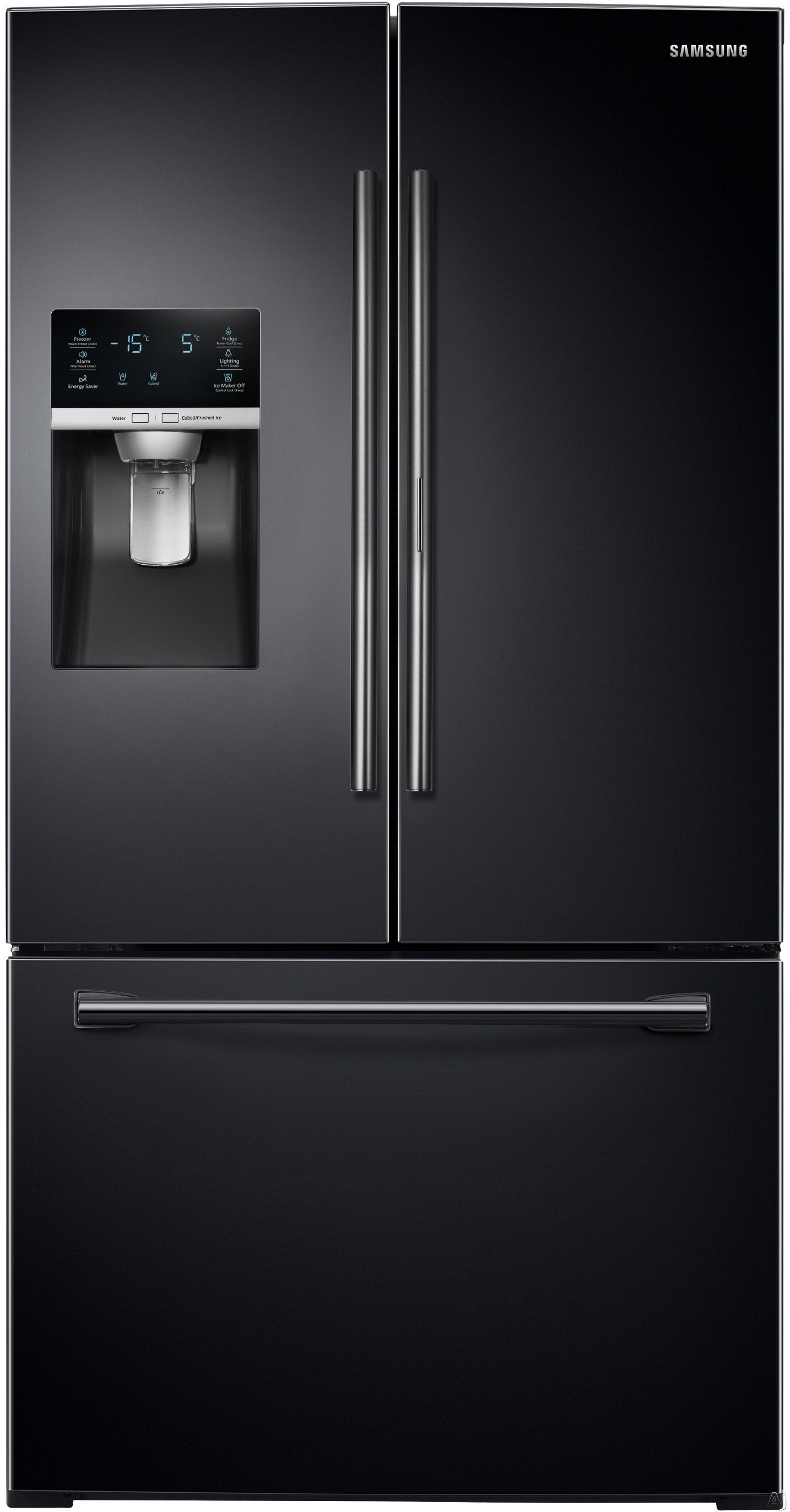 Samsung RF28HDEDPBC 27.8 cu. ft. French Door Refrigerator with 5 Spillproof Glass Shelves, Food ShowCase Fridge Door, Metal Cooling, External Ice/Water Dispenser, CoolSelect Pantry and Humidity Controlled Crispers: Black