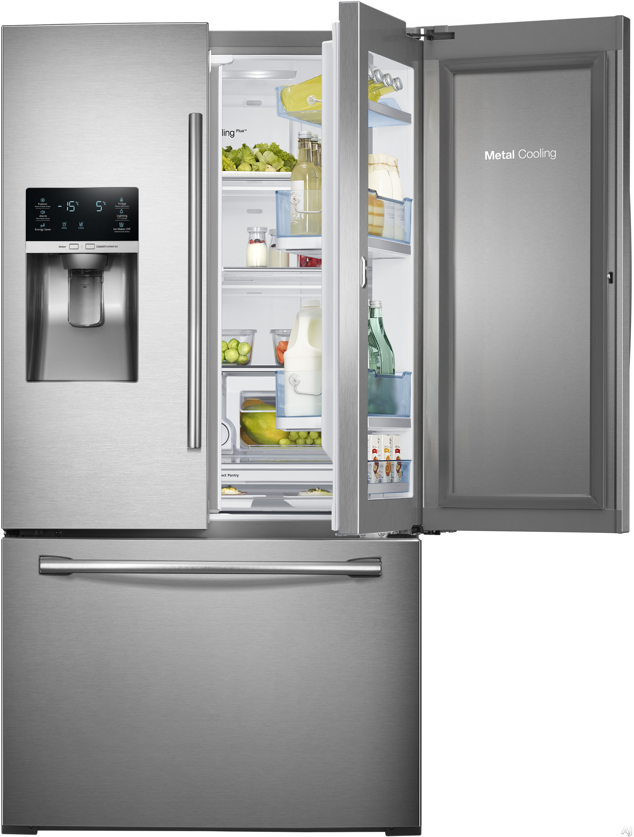2800 #989233 Samsung RF28HDEDTSR 27.8 Cu. Ft. French Door Refrigerator With 5  image Refrigerator French Doors 34832120