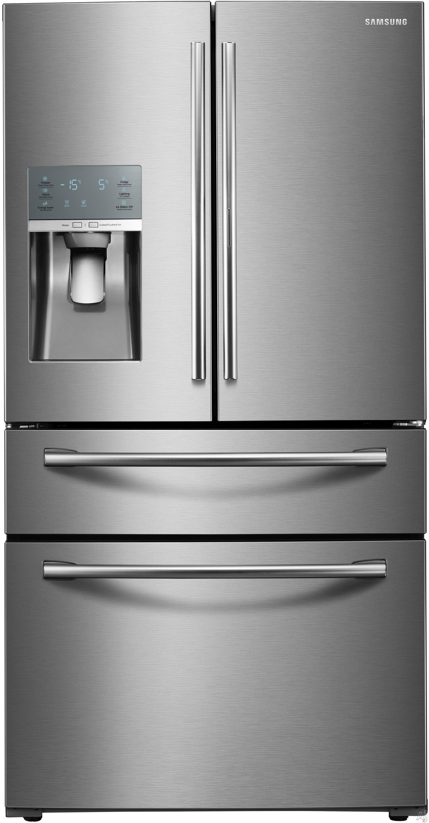 Samsung RF28JBEDBSR 36 Inch 4-Door French Door Refrigerator with FlexZone Drawer, Tempered Glass Spill-Proof Shelves, Twin Cooling Plus, Gallon Door Storage, Food ShowCase Fridge Door, LED Lighting, Filtered Water and Ice Dispenser and Energy Star Qualified: Stainless Steel