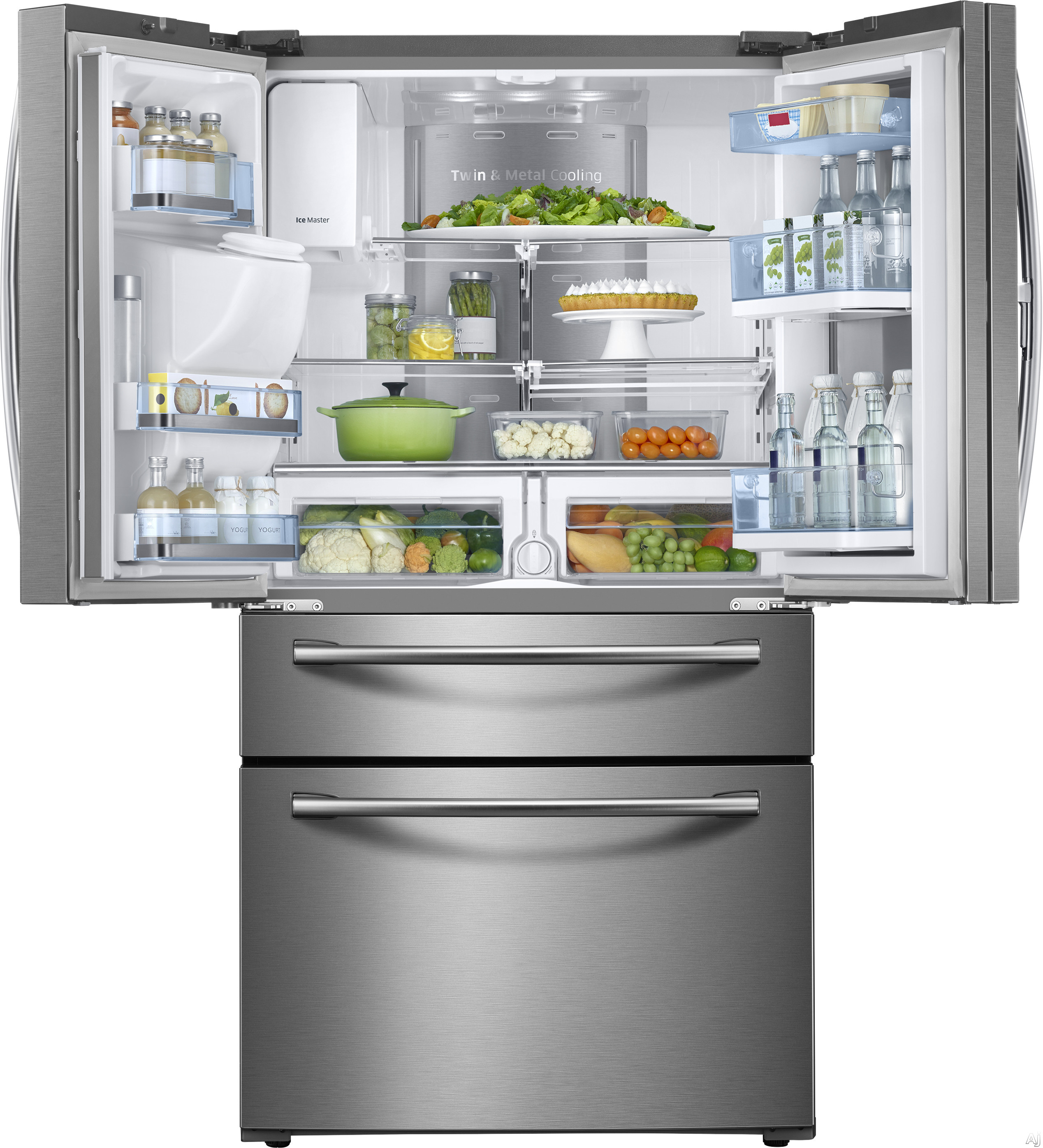 Samsung Rf28jbed 28 Cu Ft French Door Refrigerator With