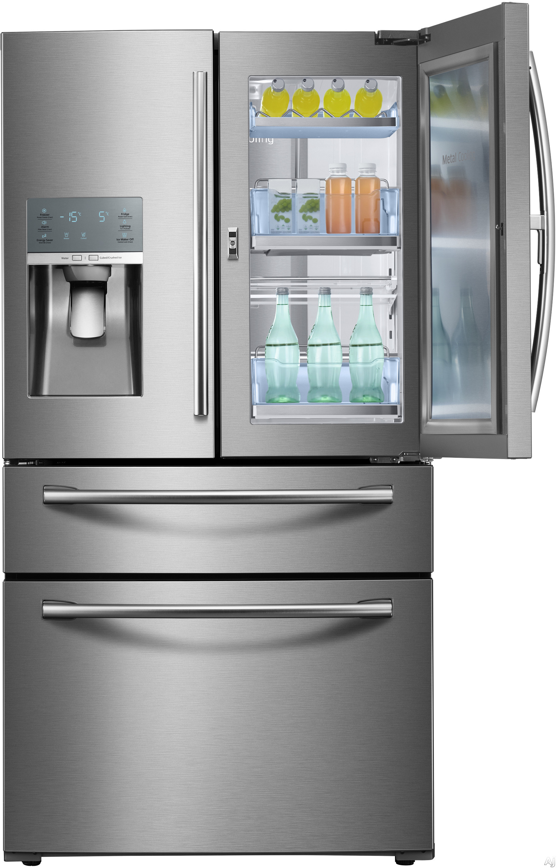 Samsung Rf28jbedbsr 28 Cu Ft French Door Refrigerator