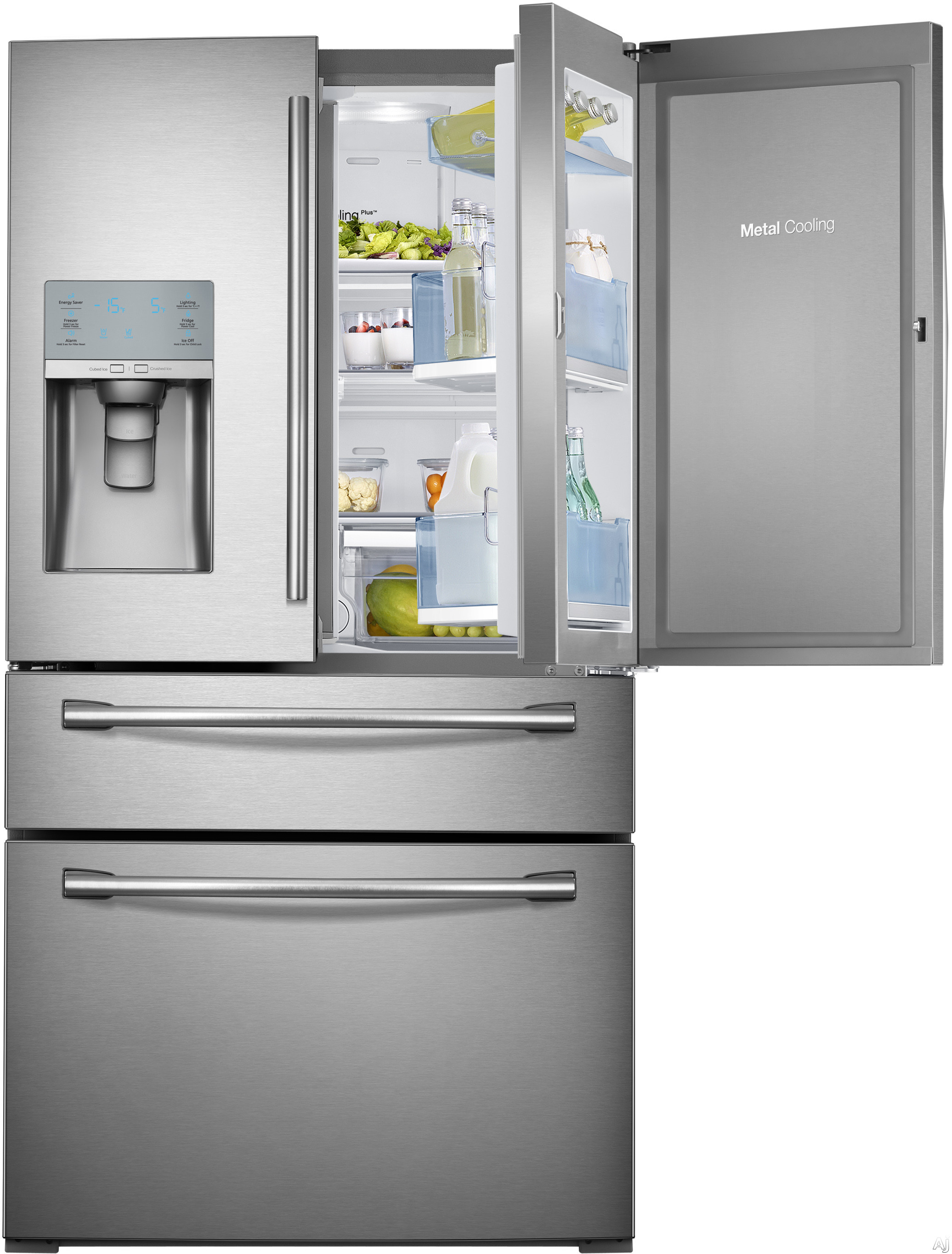 Samsung Rf30hbedbsr 29 5 Cu Ft French Door Refrigerator