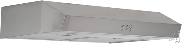 Avanti Rh24p 24 Inch Under Cabinet Range Hood With 250 Cfm Blower, 3-speed Fan, 2-level Led Lighting, 2 Washable Mesh Air Filters And Optional Recirculating Kit