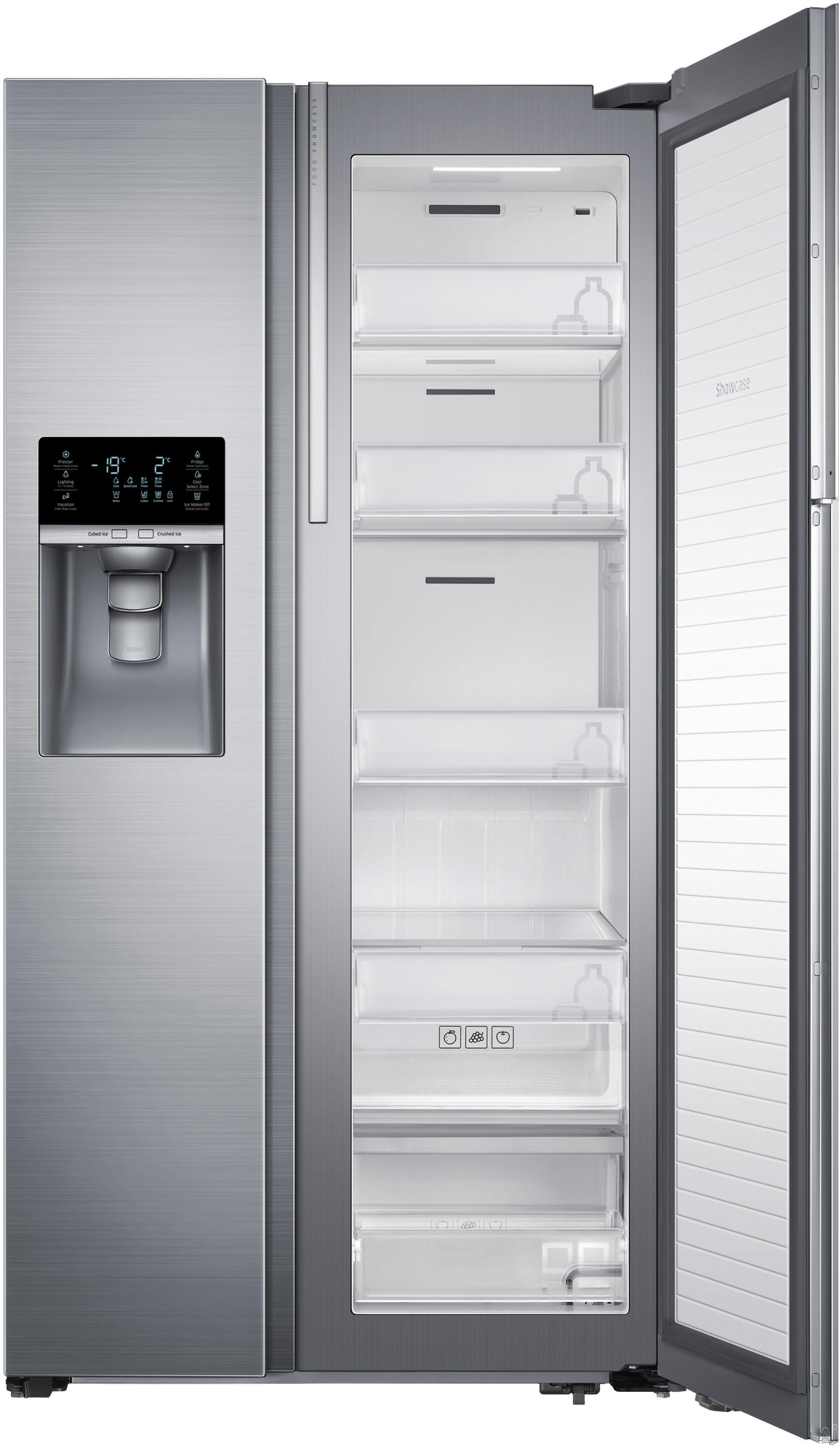 samsung rh29h8000sr 28 5 cu ft side by side refrigerator. Black Bedroom Furniture Sets. Home Design Ideas