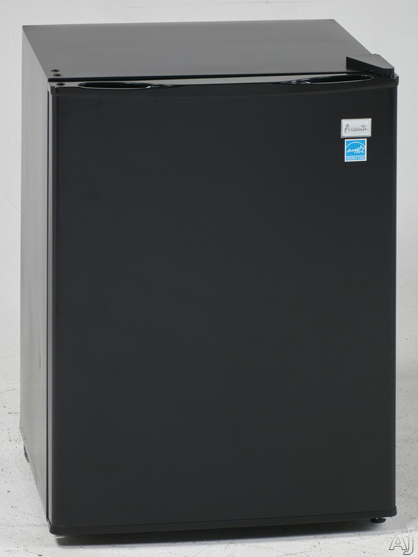 Avanti RM24T1B 19 Inch Compact Refrigerator with 2.4 cu. ft. Capacity, 2 Wire Shelves, 2-Liter Bottle Door Bin Storage, Chiller Compartment and Manual Defrost