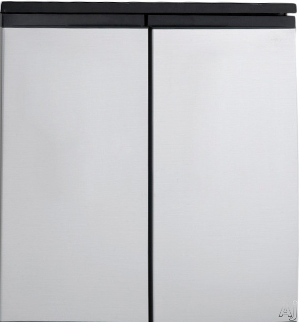 Avanti RMS55 5.5 cu. ft. Side-by-Side Refrigerator with 2 Adjustable Glass Shelves, 3 Door Bins, 1 Vegetable Crisper and 2 Fixed Plastic Shelves in Freezer