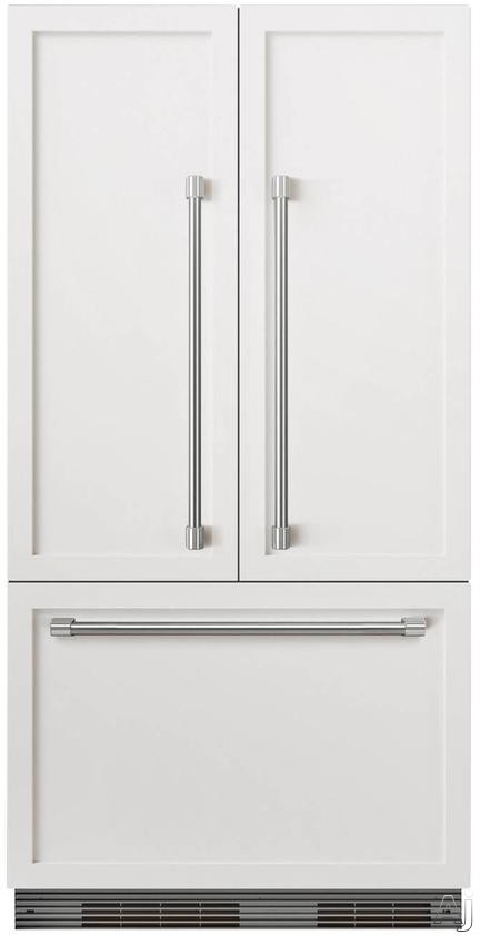 DCS ActiveSmart Series RS36A72JC1 36 Inch Built-In French-Door Refrigerator with 16.8 cu. ft. Capacity, ActiveSmart Technology, Adjustable Spill-Proof Glass Shelves, Gallon Door Bin Storage, Humidity Controlled Drawers, Internal Ice Maker, ENERGY STAR and Frost-Free Operation:Panel Ready