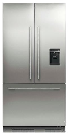 Fisher & Paykel Active Smart RS36A72U1 36 Inch Built-in French Door Refrigerator with 16.8 cu. ft. Capacity, 3 Spill-Safe Glass Shelves, ActiveSmart Technology, SmartTouch Control Panel, External Dispenser, Sabbath Mode and Energy Star Rated: Panel Requi