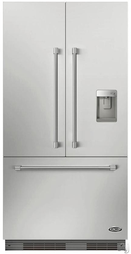 DCS ActiveSmart Series RS36A72UC1 36 Inch Panel Ready French Door Refrigerator with Adjustable Glass Shelving, 3 Crispers, Full-Width Deli Drawer, Adjustable Door Bins, Internal Ice Maker and External Water Dispenser RS36A72UC1