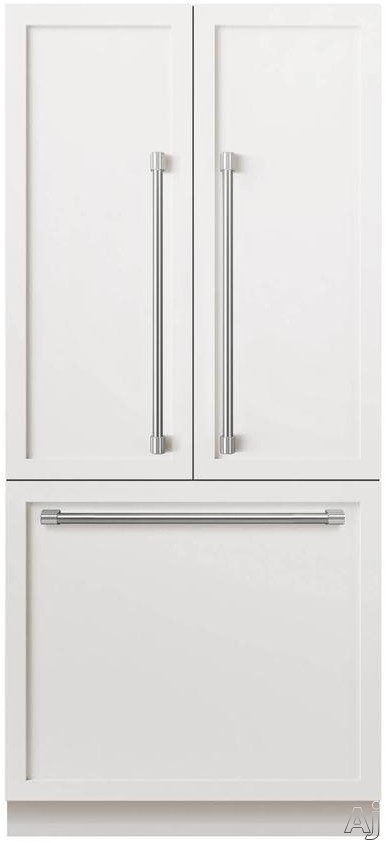 DCS ActiveSmart Series RS36A80JC1 36 Inch Built-in French-Door Refrigerator with 16.8 cu. ft. Capacity, ActiveSmart Technology, Gallon Door Bin Storage, Internal Ice Maker and Spill-Proof Adjustable Glass Shelves: Panel Ready