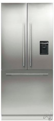 Fisher & Paykel Active Smart RS36A80U1 36 Inch Built-in French Door Refrigerator with 16.8 cu. ft. Capacity, 3 Adjustable Spill-Safe Glass Shelves, Bottle Chill, ActiveSmart Technology, External Water Dispenser, Ice Maker and Sabbath Mode: Panel Required