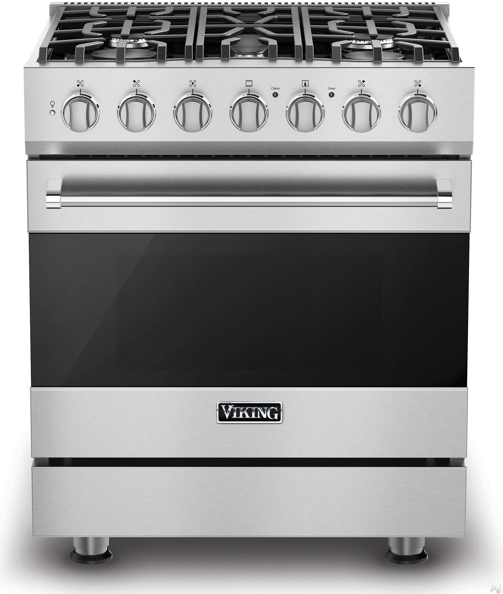 Viking 3 Series RVDR33015B 30 Inch Freestanding Dual Fuel Range with 5 Sealed Burners 18 000 BTU 47 cu ft Convection Oven Heavy Duty Continuous Grates and TruGlide Full Extension Rack