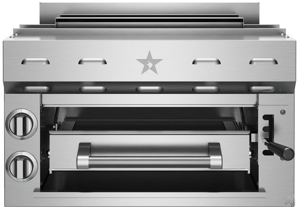 Picture of BlueStar PRZSAL24 24 Inch Pro-Style Counter Top Salamander Infrared Broiler with Legs
