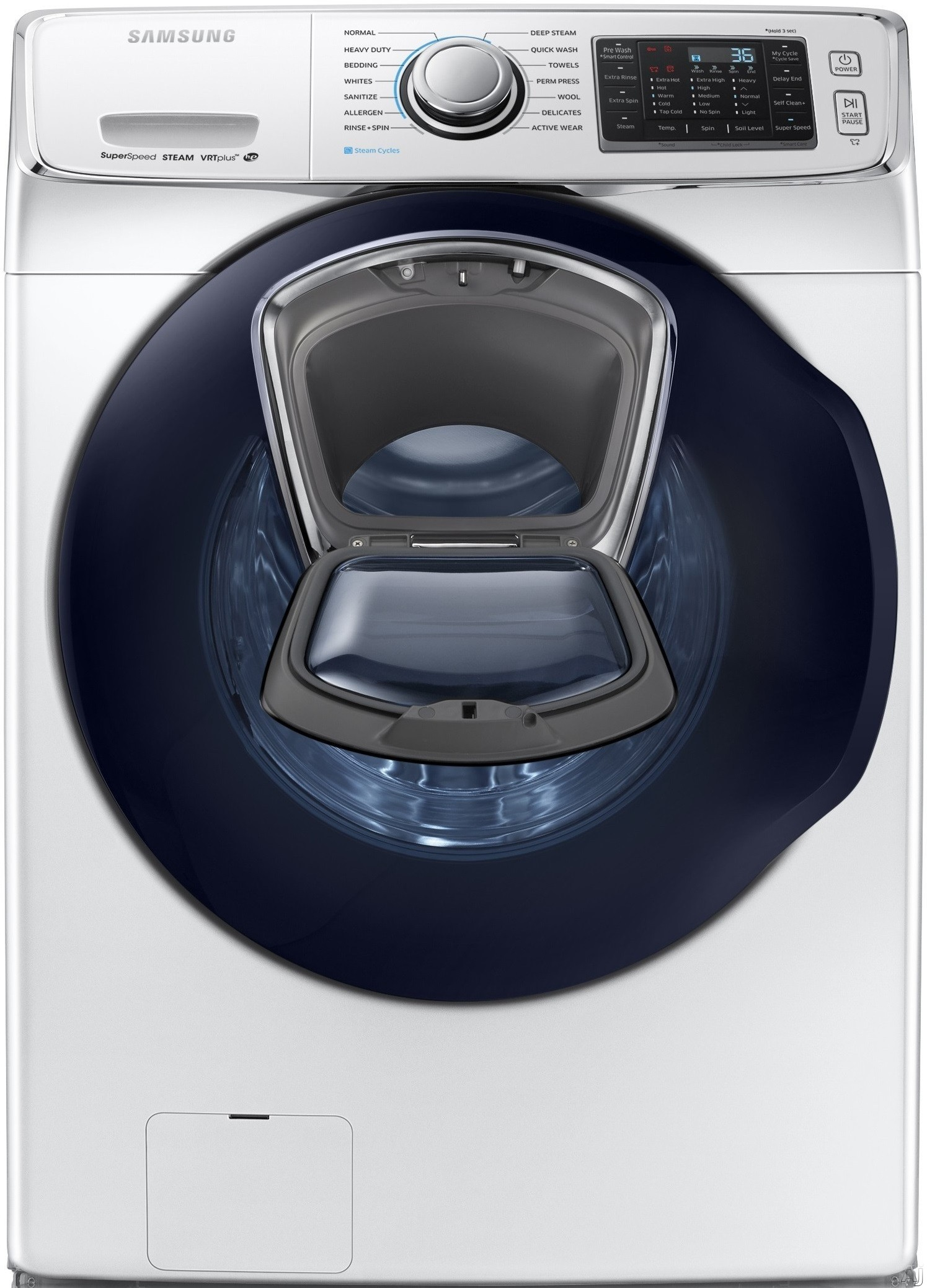 "WF45K6500AW 27"""" High Efficiency Front-Load Washer with 4.5 cu. ft. Capacity  AddWash door  Super Speed option and 14 wash cycles in"" 685998"