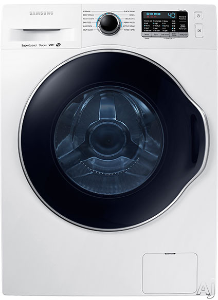 Samsung - 2.2 Cu. Ft. 12-Cycle High-Efficiency Steam Front-Loading Washer - White WW22K6800AW