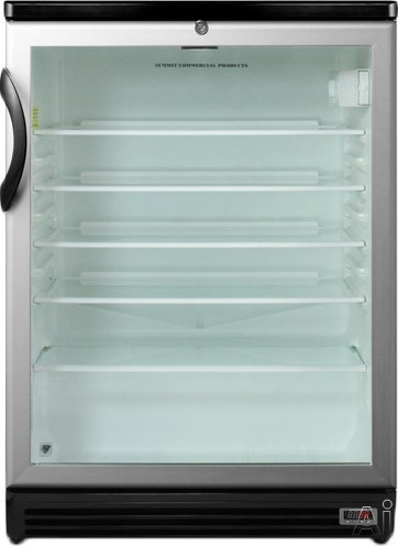 Wine Refrigerator Reviews >> Summit SCR600BLPUB 5.5 cu. ft. Compact Refrigerator with Adjustable Glass Shelves, Front Lock ...