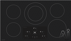 Sharp SDH3652DB 36 Inch Induction Cooktop with 5 Cooking Zones, Simmer Enhancer, Residual Heat Indicator, White LED Display and Power Boost