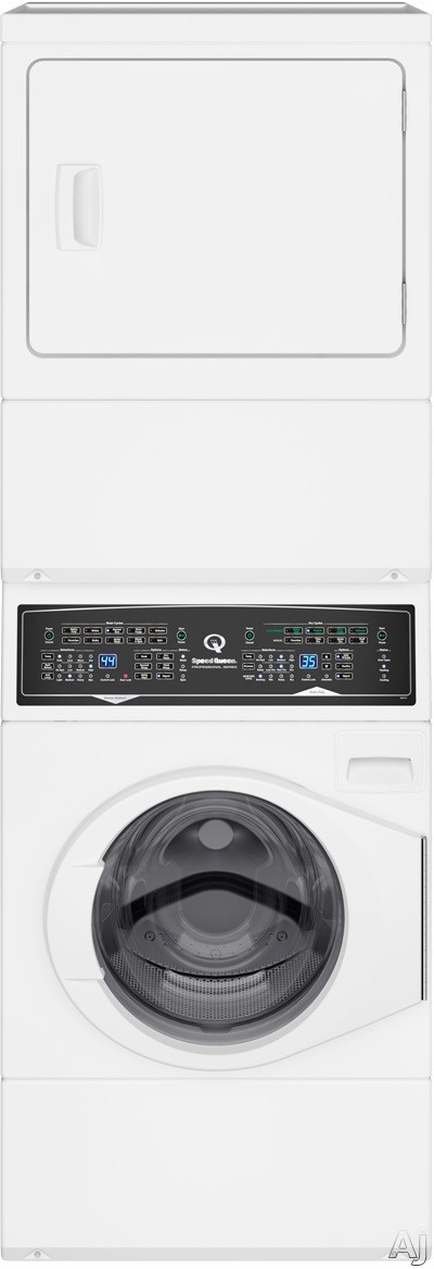 "SF7000WG 27"""" Gas Stacked Washer and Dryer with Stainless Steel Tub  Balance Technology  Control Lock  Moisture Sensor  in"" 874598"