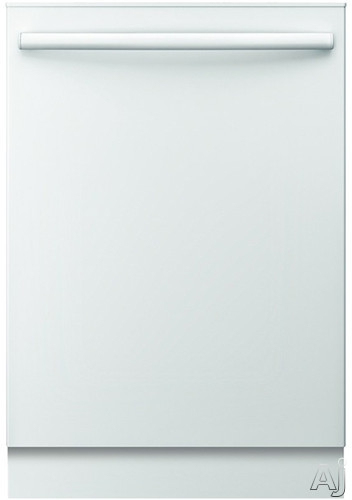 Bosch Ascenta Series SHX3AR72UC Fully Integrated Dishwasher with Adjustable Upper Rack, Sanitize Option, Express Wash, Silverware Basket, 14-Place Settings, 6 Wash Cycles, Delay Start, 50 dBA Sound Level and ENERGY STAR ® Rated: White