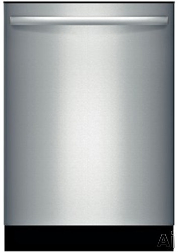 Bosch Ascenta Series SHX3AR75UC Fully Integrated Dishwasher with 14-Place Settings, 6 Wash Cycles, 2 Options, Sanitize Option, Delay Start, Adjustable Upper Rack and 50 dBA: Stainless Steel