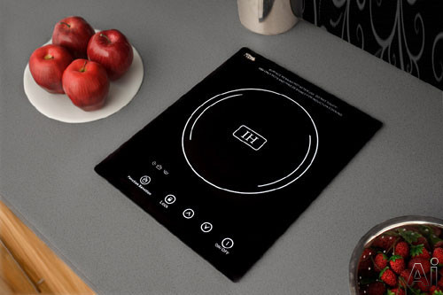 Summit SINC1110 12 Inch Induction Cooktop with Single 1800 Watt Cooking Zone, 10 Power Levels, Automatic Pan Detection, Touch Sensor Controls and 120V