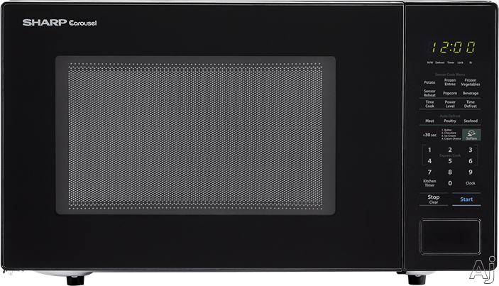 Sharp SMC1441CB 1.4 cu. ft. Countertop Microwave with Sensor Cooking, Express Cook, Auto Defrost, 10 Power Levels, 1,000 Watts and Child Lock: Black